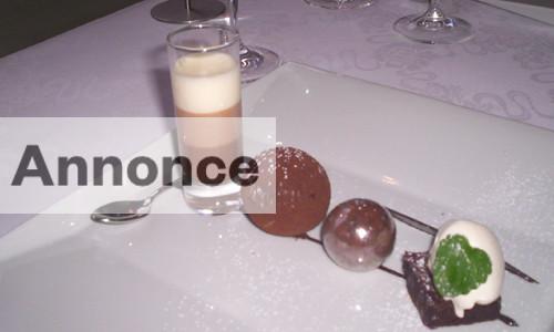dessert på Molskroen ved Ebeltoft